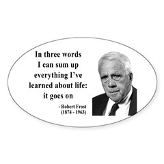 Robert Frost Quote 15 Oval Decal