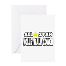 """All Star Volleyball Coach"" Greeting Card"