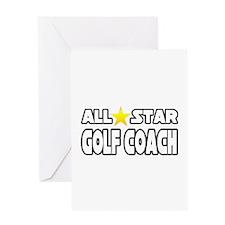 """All Star Golf Coach"" Greeting Card"