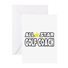 """""""All Star Golf Coach"""" Greeting Cards (Pk of 20)"""