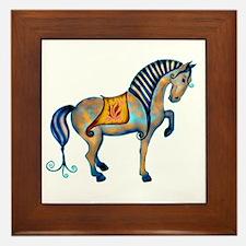 Tang Horse Two Framed Tile