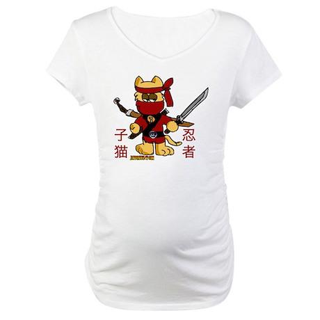 Ninja Kitty Maternity T-Shirt