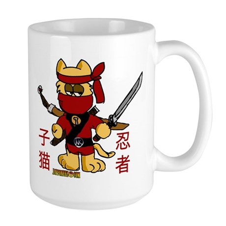 Ninja Kitty Large Mug