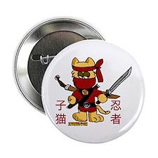 """Ninja Kitty 2.25"""" Button"""