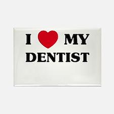 I Love My Dentist Rectangle Magnet