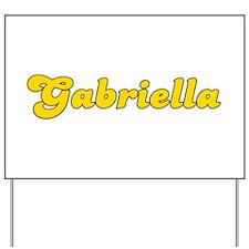 Retro Gabriella (Gold) Yard Sign