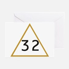 32 in triangle Greeting Cards (Pk of 10)