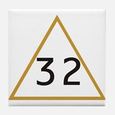 32 in triangle Tile Coaster