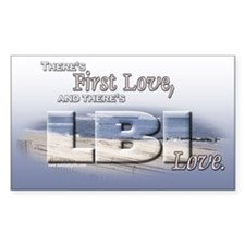 LBI Love... Rectangle Decal