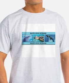 Save Our Oceans Ash Grey T-Shirt