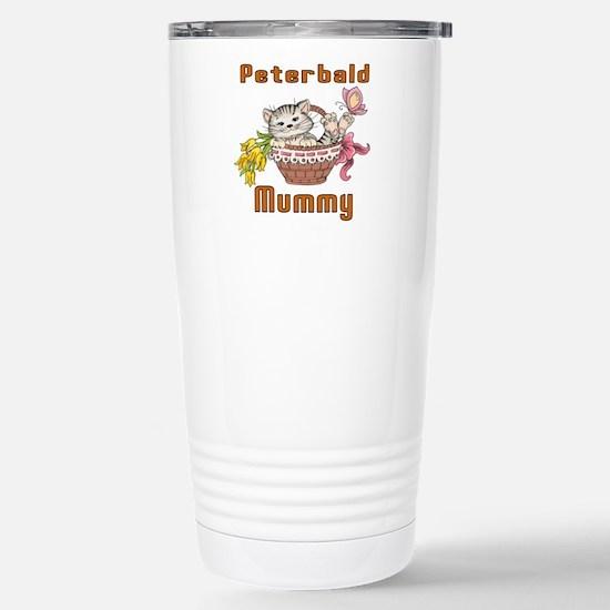 Peterbald Cats Mummy Stainless Steel Travel Mug