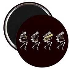 Skeleton Brass Band Magnet