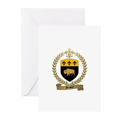 BISSON Family Crest Greeting Cards (Pk of 10)