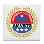 American Veterans for Vets Tile Coaster