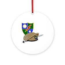 Army Ranger Beret Dagger Keepsake (Round)