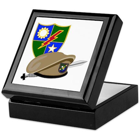 Army Ranger Beret Dagger Keepsake Box
