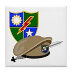 Army Ranger Beret Dagger Tile Coaster