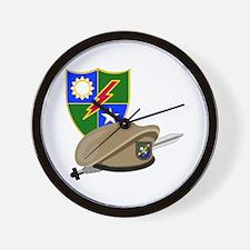 Army Ranger Beret Dagger Wall Clock