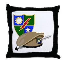 Army Ranger Beret Dagger Throw Pillow