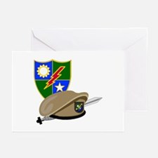 Army Ranger Beret Dagger Greeting Cards (Package o
