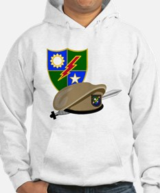 Army Ranger Beret Dagger (Front) Hoodie