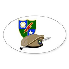 Army Ranger Beret Dagger Oval Decal
