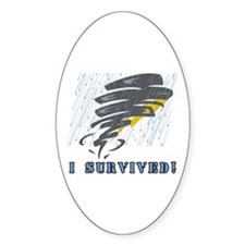 Tornado I Survived Oval Decal