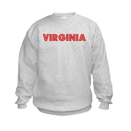 Retro Virginia (Red) Kids Sweatshirt