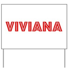 Retro Viviana (Red) Yard Sign