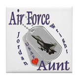 Us air force aunt licence frame Drink Coasters