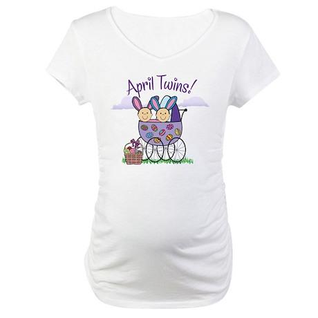 APRIL TWINS! Maternity T-Shirt