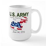 Army Keeping America Free Large Mug
