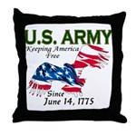 Army Keeping America Free Throw Pillow