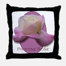 Pristine Rose Throw Pillow