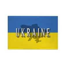 Ukraine Flag Extra Rectangle Magnet