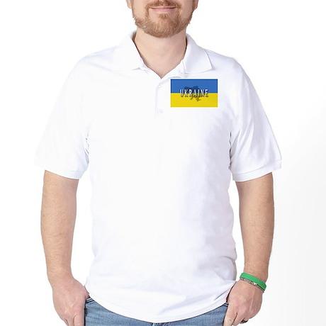 Ukraine Flag Extra Golf Shirt