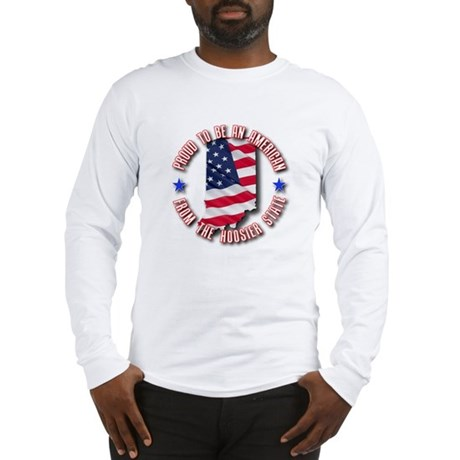 Patriotic Indiana Long Sleeve T-Shirt