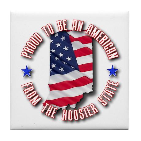 Patriotic Indiana Tile Coaster