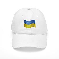 Ukrainian Flag Wavy Baseball Cap