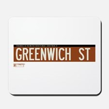 Greenwich Street in NY Mousepad