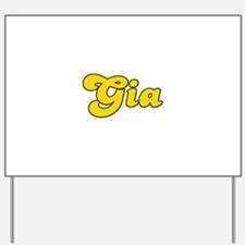 Retro Gia (Gold) Yard Sign