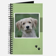 """""""Who Me?"""" Golden Puppy Journal"""