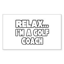 """Relax...Golf Coach"" Rectangle Decal"