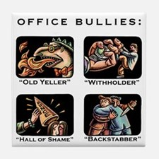 Office Bullies Tile Coaster