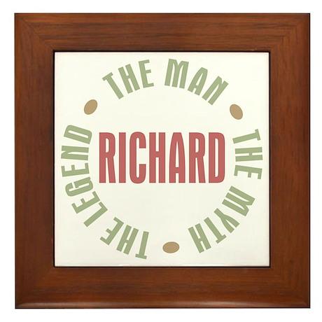 Richard Man Myth Legend Framed Tile