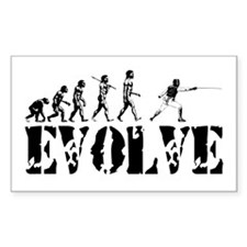Fencing Evolution Rectangle Decal