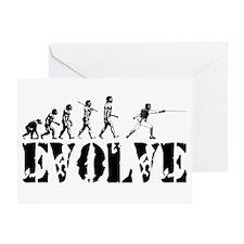 Fencing Evolution Greeting Card