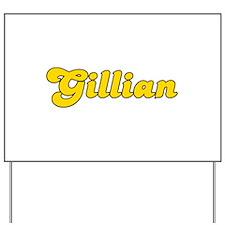 Retro Gillian (Gold) Yard Sign