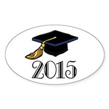 2015 Graduation Class Oval Sticker (50 pk)