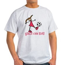 Girls Soccer Girls Can Kick T-Shirt
